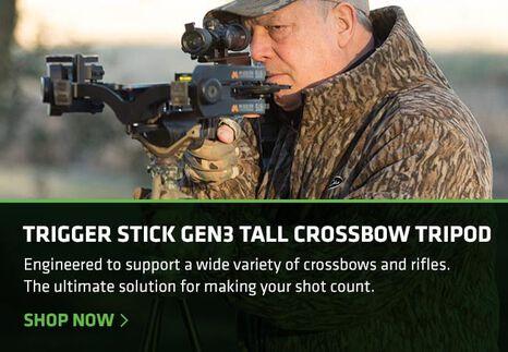Jimmy Primos using a Tall Tripod Crossbow Trigger Stick