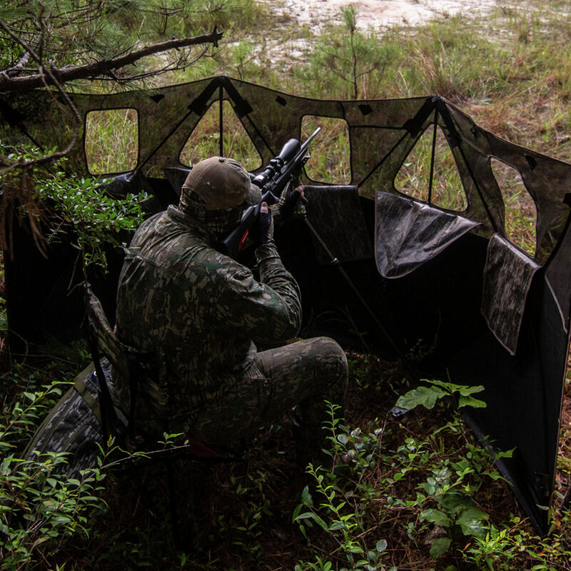 Double Bull 3-Panel Stakeout with SurroundView Hunting Blind