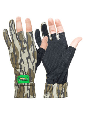 Mossy Oak Bottomland Stretch Fingerless Gloves