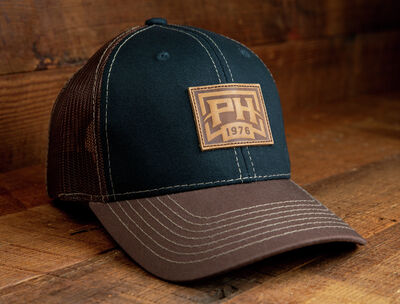 """""""The Night Cap"""" Midnight Blue Front, Brown Mesh Back Cap"""