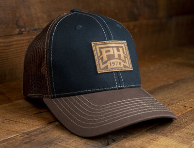 """The Night Cap"" Midnight Blue Front, Brown Mesh Back Cap"