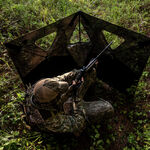 Double Bull SurroundView Stakeout Hunting Blind in Greenleaf