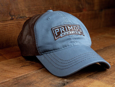 """The Low Tide"" Harbor Blue Front,  Brown Mesh Back Cap"